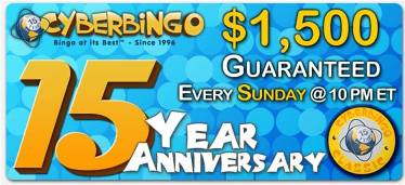 May's CyberBingo 15th Anniversary Special Promotion