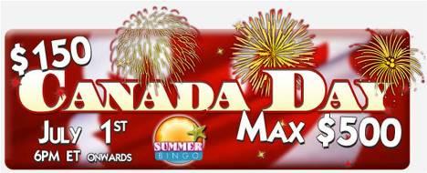 $150 Canada Day Maximum $500