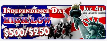 Independence Day 'High or Low' $500/$250