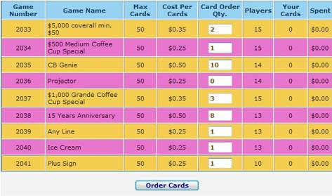 Step 4: Specify quantity and Order Cards