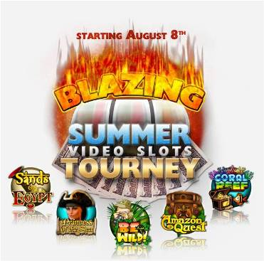 Blazing Summer Video Slots Tourney