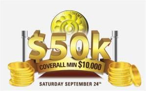 $50,000 Coverall minimum $10,000 Game