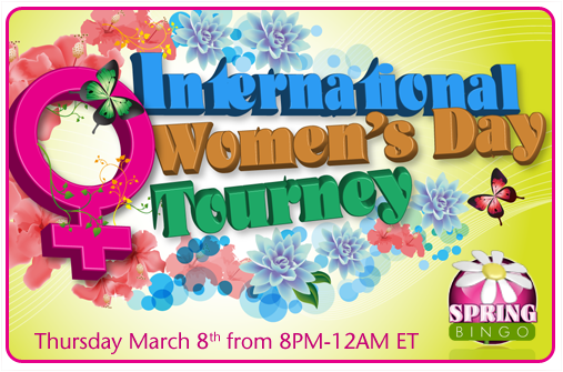 International Women's Day Bingo Tourney